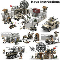 Call of Duty Military Radar Base Soldiers Fit WW2 Lego MiniFigures Mega Construx