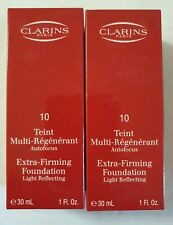 2 × CLARINS Extra-Firming Foundation/ Light Reflecting # 10 Tender Gold, 2×30ml.