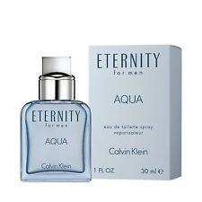 Eternity for Men Aqua Cologne Perfume by CALVIN KLEIN 1.0 Oz 30 ml EDT Spray New