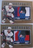 2006-07 ITG Heroes and Prospects Ivan Vishnevsky 1 of 10 patch jersey GOLD RC #2