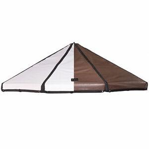 Advantek Pet 23253 3 Foot Dog Gazebo Reversible Canopy Cover Top, Brown/White