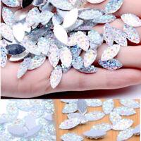 Shine Flat Back Silver Base Spacer Beads Resin Rhinestone Crystal DIY Crafts