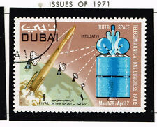 Dubai Space Communication Sattelite Arab Countries Map stamp 1971