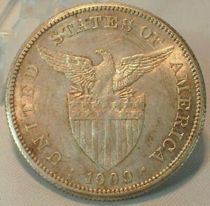 1909-S USA Philippines Silver Dollar PESO in High Grade  KM# 172  (Z334)