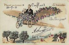 CPA 78 PLANANT AU DESSUS DE CONFLANS AVION