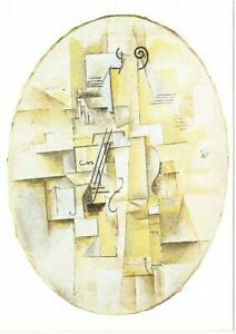 Violin by Pablo Picasso Art Postcard