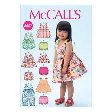 McCalls Easy Toddlers Sewing Pattern 6944 Top, Dresses, Rompers & Panties ½-4