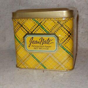 RARE Tin JEAN NATE Perfumed Original Body Bath Powder Unopened Sealed in Box 4oz