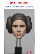 FIRE 1/6 scale Princess Leia Head Sculpt For Star Wars in Dark Suntan