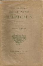 LES DIX LIVRES DE CUISINE D'APICIUS _ GUEGAN _ BONNEL 1933_ Cucina _ gastronomie