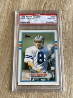 TROY AIKMAN 1989 TOPPS TRADED #70T ROOKIE *PSA 8 NM-MT* HOFer COWBOYS RC 👀🔥