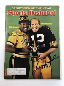 Willie Stargell Terry Bradshaw Signed 1979 Sports Illustrated Pittsburgh PSA