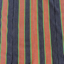 a 68.5 x 43 inch hand woven striped fresh off the loom african textile mali #10