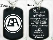 GAMBLERS ANONYMOUS PRAYER-Dog tag Necklace/Key chain + FREE ENGRAVING