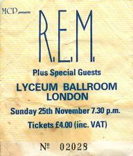 More details for vintage undocumented r.e.m. concert ticket lyceum ballroom 1984