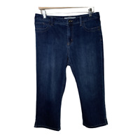 Chicos 1.5 Womens Jeans Capri Stretch Denim Pant Bottoms Platinum Size Medium 10