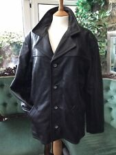 Guess Men's Leather Jacket With Removable Lining