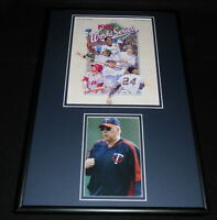 Tom Kelly Signed Framed 12x18 Photo Display Twins 1987 World Series