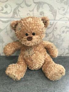 Paws Patch Brown Teddy Bear Plush Soft Cuddly Beanie Teddy Bear - 11 inches