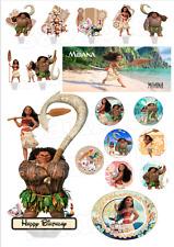 Comestible Base de tarta Princesa Vaiana Decoración Cumpleaños Muffin NUEVO dvd