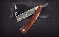 Professional Handmade Damascus Steel Straight Razor Beautiful Wood Handle