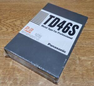 """1 x NEW Panasonic D3 1/2"""" Digital Tape TD46S AJ-TD46S-P 50 MINUTES"""