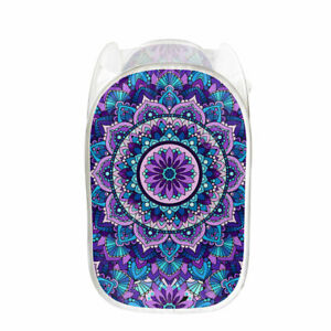 1pc Colorful Flower Clothes Basket Women, Necessary For Travel And Easy To Carry