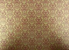 Melody Jane Dolls House Renaissance Red on Gold Miniature Print 1:12 Wallpaper