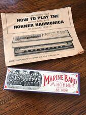 M. Hohner Marine Band No.1896 Harmonica Key C with Original Box & Manual (1971)