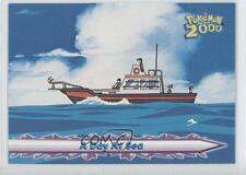 2000 Topps Pokemon The Movie #17 A Day At Sea Card g6w