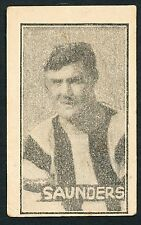 1926 Cains Sweets Saunders Collingwood RARE Football Card