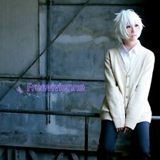 Future City NO.6 Shion Short White Anime Cosplay Party Full Wig