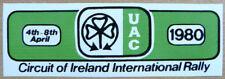 1980 Circuit of Ireland International Rally / Motorsport Sticker Decal