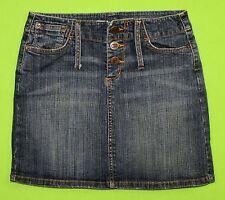Bongo sz 1 Mini Stretch Womens Juniors Blue Jeans Denim Skirt KD1