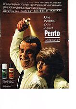 PUBLICITE ADVERTISING  1964    PENTO  tonic spray coiffant
