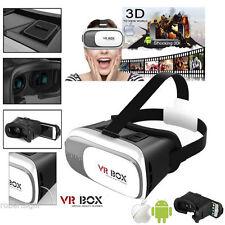 VISORE 3D VR BOX BIANCO GOOGLE REALTÀ VIRTUALE SMARTPHONE ANDROID IOS IO PHONE