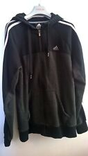 Mens Adidas Performance Essentials Grey Full Zip Hoodie Sweatshirt Size M