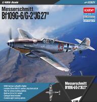 """1/48 Messerschmitt Bf109G-6/G-2 """"JG27"""" #12321 ACADEMY HOBBY MODEL KITS"""