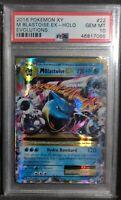 PSA 10 GEM MINT Blastoise EX 22/108 Holo Evolutions  XY Set Pokemon Card