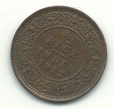 VERY NICE HIGH GRADE 1912 INDIA 1/2 PICE COIN-APR047
