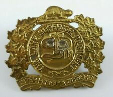 WW2 Canadian Lake Superior Regiment cap badge - 1 Repaired Lug to Rear - canada