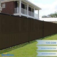 6'x50' Brown Windscreen Privacy Fence Shade Cover Mesh Outdoor Lawn Construction