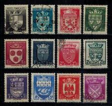 (a18) timbres France n° 553/564 oblitérés année 1942