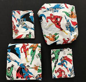 Pottery Barn Kids DC Comics Marvel Full Sheet Set Cotton Aquaman Flash Superman