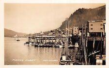 Real Photo Postcard Fishing Fleet in Ketchikan, Alaska~109674