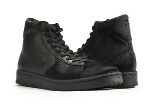 CONVERSE Pony Hair Black Pro-Leather High-Top Sneakers 165751C