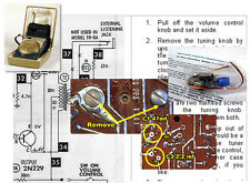 Sony Tr-620 Vintage Transistor Radio Electrolytic Capacitor Recap Kit