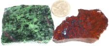 2 Marvelous Slabs-Ruby in Zoisite, Red Jasper & Metallic Ore 1st Pic Wet #2201
