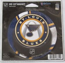 NHL 4 inch Auto Magnet ST. Louis Blues Logo on Round Puck Style