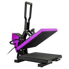 Purple 15x15 Heat Press Machine Digital Transfer Sublimation Kit For T Shirts